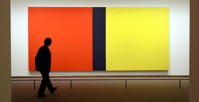 Barnett Newman: Who is afraid of red, yellow and blue, versie III