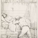 """Karel Frederik Bombled (1832 - 1902): Sterfbed van een geliefde. (Via<a href=""""https://www.rijksmuseum.nl/nl/rijksstudio"""" target=""""_blank"""" rel=""""noopener"""">Rijksstudio</a>)"""