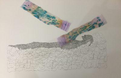 Inkt en gemixte materialen op aquarelpapier, 2016